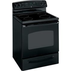 GE 30-in Freestanding Smooth Surface 5.3 cu ft Electric Range (Black)