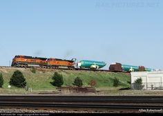 RailPictures.Net Photo: BNSF 1075 BNSF Railway GE C44-9W (Dash 9-44CW) at Grand Island, Nebraska by Allen Robertson Bnsf Railway, Grand Island, Nebraska, Train, History, Historia, Strollers