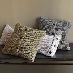 WElm knit pillow covers...could maybe knit something similar...someday