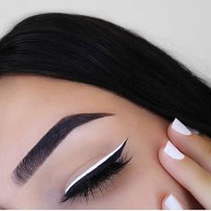 NYE Beauty Essentials Thatll Keep Your Look on Lock Past Midnight White Eyeliner Makeup Beauty Essentials Lock Midnight NYE thatll Makeup Goals, Makeup Inspo, Makeup Inspiration, Makeup Ideas, Makeup Style, Makeup Tutorials, Makeup Pics, Makeup Designs, Prom Makeup