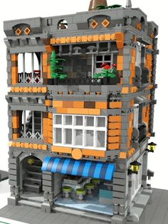 Awesome creation. Kitchen Design Open, Open Kitchen, Kitchen Designs, Legos, Modele Lego, Construction Lego, All Lego, Lego Modular, Cool Lego Creations
