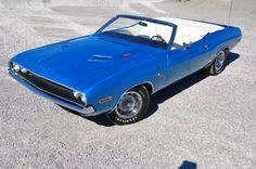 1970 Dodge Challenger R/T convertible Chrysler produced for export outside the U.S
