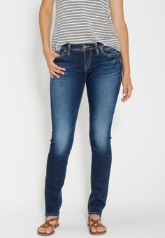 Silver Jeans Co. ® Tuesday denimotion super skinny jeans (original price, $94.00) available at #Maurices