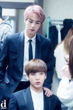 Oldest and maknae jin and jk