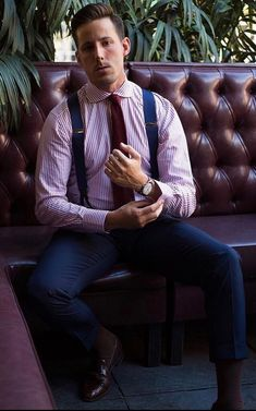 Suspenders Fashion, Suspenders Outfit, Braces Suspenders, Mens Fashion Suits, Male Fashion, Mens Braces, Designer Suits For Men, Business Outfit, Business Casual