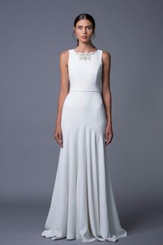 Noa An Elegant Wedding Dress with an Embellished Neckline by Lihi Hod on @CVBrides via @aislesociety