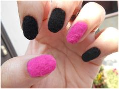Velvet nails  You can get this at rite aid or CVS FOR 7 or 8 dollars