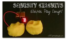 squishy circuits with conductive play dough.