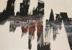 Korean artist Jieun Park reveals urban landscapes hidden beneath the surface of her paintings