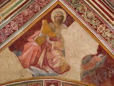 Lorenzo Monaco - Profeta Davide - affresco - 1420-1424 - Volta - Cappella Bartolini Salimbeni - Firenze, Basilica della S. Trinità