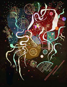 Mouvement n°1, par Wassily Kandinsky