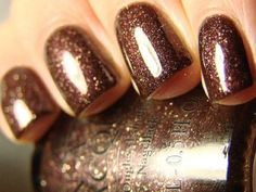 OPI Espresso. Pretty shimmer brown nail polish color for fall.