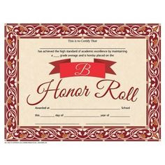 High honor roll certificate 30pack downloadable templates b honor roll certificate 30pack downloadable templates available to personalize or can be yadclub Gallery