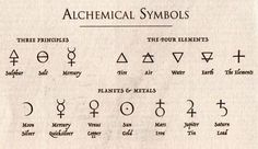 indie occult symbols alchemical