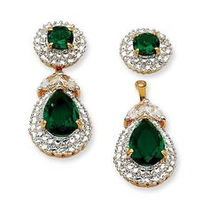 First Lady Created Emerald Jackie Kennedy Earrings Jackie Kennedy, I have the necklace and the bracelet, just need these