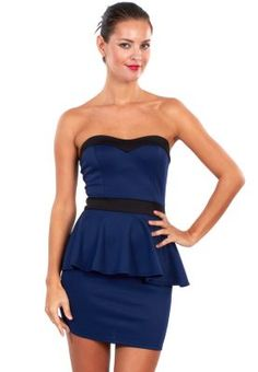 Ginger  Strapless peplum dress