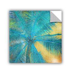 "ArtWall Palm Tree Sunset II by Irena Orlov Wall Mural Size: 18"" H x 18"" W x 0.1"" D"
