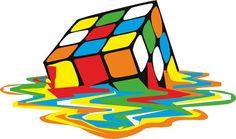 Rubik Cube Melted Original Artwork for Prints Posters Tshirts Mini Art Print by Art-O-Rama Shop - Without Stand - x Poster Prints, Art Prints, Posters, Big Bang Theory, Up Girl, Funny Babies, Bigbang, Wall Decals, Frases