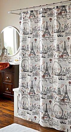 Paris Oh La La Fabric Shower Curtain Elegant Homeu2026