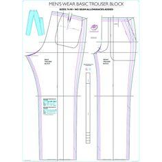 Block Patterns by Professor Martin Shobden Baby Leggings Pattern, Jacket Pattern, Sewing Patterns Free, Clothing Patterns, Dress Patterns, Mens Suit Trousers, Pattern Grading, Fashion Vocabulary, Sewing Basics