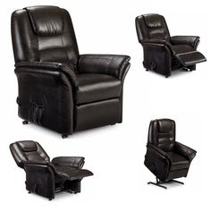 Leather Sofa Set, Recliner, Modern Contemporary, Armchair, Relax, Deep, Touch, Button, Brown
