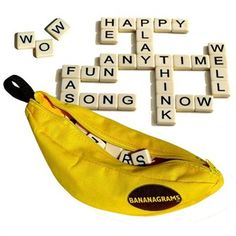 Bananagrams Game by Bananagrams   Toys   www.chapters.indigo.ca Word Games, Fun Games, Games To Play, Recess Games, Banana Gram, Childrens Christmas Gifts, Travel Toys, Games For Teens, Educational Toys
