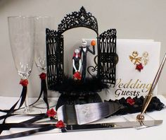 I absolutely love this!! I've always wanted a few nightmare before Christmas inspired things to be in my wedding