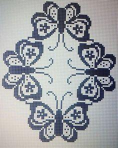 Easiest Crochet Frills Border Ever! Cross Stitching, Cross Stitch Embroidery, Embroidery Patterns, Cross Stitch Patterns, Crochet Patterns, Crochet Borders, Filet Crochet, Diy Crochet, Crochet Stitches