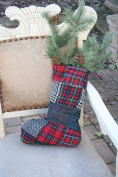 Bursts of Tartan 3  Recycled Wool Patchwork by SmokinTweed on Etsy, $28.00
