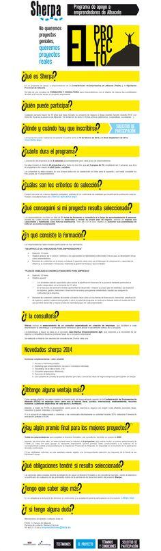 Proyecto Sherpa de consultoría y formación para #emprendedores de #Albacete ultimando las plazas