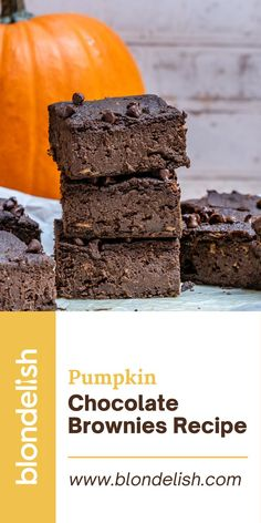 These pumpkin chocolate brownies are one of the best desserts you could serve for the upcoming holidays. They're vegan, paleo, gluten-free, and best of all… super delish. Oh, and they take just 10 minutes to prep and about 30 to bake. Pretty good for such a dessert, isn't it? #vegan #paleo #glutenfree #chocolate #chocolaterecipes #brownies #pumpkin #pumpkinrecipes Gluten Free Recipes For Breakfast, Best Gluten Free Recipes, Vegan Recipes, Easy Recipes, Sugar Free Chocolate, Homemade Chocolate, Chocolate Recipes, Homemade Pumpkin Puree, Pumpkin Recipes