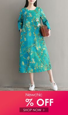 I found this amazing Women Floral Printed Sleeve Pocket Mid-Long Vintage Dresses with 14 days return or refund guarantee protect to us. Women's Dresses, Dresses Online, Nice Dresses, Fashion Dresses, Summer Dresses, Vintage Style Dresses, Amazing Women, Floral Prints, Cold Shoulder Dress