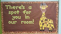 Safari Bulletin Boards, Toddler Bulletin Boards, Teacher Bulletin Boards, Back To School Bulletin Boards, Classroom Bulletin Boards, Jungle Classroom Door, Eyfs Classroom, Toddler Classroom, Classroom Displays
