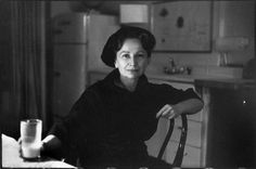 """Hedda Sterne (1910-2010) by Henri Cartier-Bresson, an artist best remembered as the only woman in a famous photograph of a group of Abstract Expressionists known as """"The Irascibles"""" which included Jackson Pollock, Willem de Kooning, Barnett Newman, Mark Rothko, and others. In her artistic endeavors she created a body of work known for exhibiting a stubborn independence from styles and trends."""