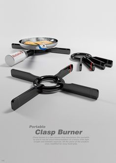 Clasp Burner is a portable BBQ equipment, yep, a burner that looks like a set of keys on a large key ring. It's a gas burner that optimizes its portability Yanko Design, Ad Design, Logo Design, Smart Home Technology, Science And Technology, Portable Bbq, Portable Stove, Large Key Rings, Bbq Equipment