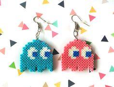 Pac-Man fantasma colores personalizables Perler por 8BitEarrings