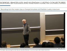 Master class on Soergel bimodules and Kazhdan-Lusztig conjectures from Aarhus University.  http://qgm.au.dk/video/mc/soergelkl/