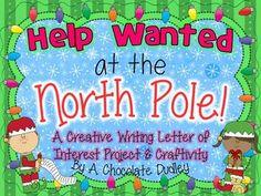 HO HO HO! Santa needs extra ELVES on staff! A Creative Writing LETTER OF INTEREST Project & Craftivity! Grades 3-6. ($)