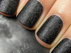 Charcoal but glittery...like!- everything is making me think of the Hunger Games today... District 12 tribute- worthy!