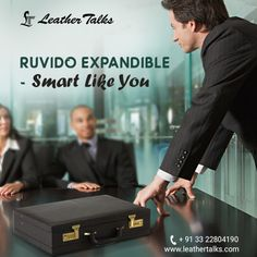 This briefcase has a really sleek design which is perfect to carry in office as well as on any business trip. Very spacious and equipped with lock facility to ensure safe storage of your belongings.  #pureleather #leathertalks  http://leathertalks.com/product/ruvido-expandiblee/