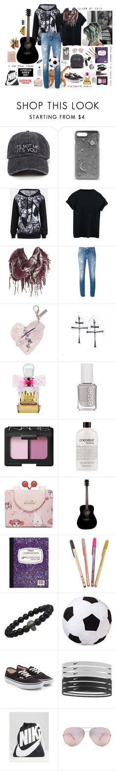 """Madison's World"" by billiej-712 ❤ liked on Polyvore featuring CHARLES & KEITH, Dolce&Gabbana, Edie Parker, Juicy Couture, Essie, NARS Cosmetics, philosophy, Yamaha, Mead and Vans"