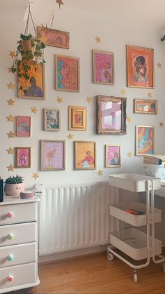 Laura Duffy Art studio gallery wall, colourful art prints in DIY frames - Prints available to buy on www.lauraduffyart.com Indie Room Decor, Cute Room Decor, Aesthetic Room Decor, Study Room Decor, Room Ideas Bedroom, Bedroom Decor, Teen Bedroom, Bedroom Inspo, Room Ideias