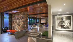 Une pièce de la nouvelle villa de luxe à Palm Springs de Leonardo DiCaprio.