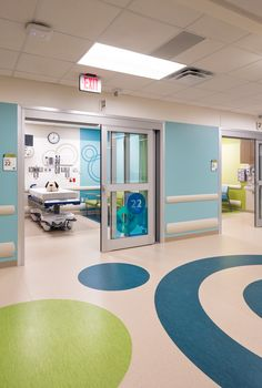 Akron Children's Hospital #EmergencyDepartment: Exam Rooms | Hasenstab Architects #HealthcareDesign #PediatricHospital