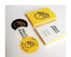 Branding for Hello Mario, a store located in Barcelona that curatescreative small scale projects, essentially handmade.