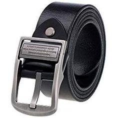 VBIGER Hombres Cinturón Cuero Genuino Cinturones con Hebilla Automática (un  tamaño 4ea5471b444c