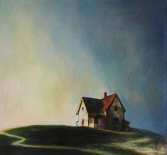 "[CasaGiardino] ♛ Pinned as Edward Hopper. It is by Annette Lea Lemke. The title is ""Inspired by Edward Hopper "" yr : 2007 category: Painting 2007 American Realism, American Artists, Landscape Art, Landscape Paintings, Hans Baldung Grien, Edward Hopper Paintings, Ashcan School, John Everett Millais, Illustration"