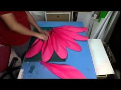 Large Lotus Flower Using Paper for Window Display - YouTube