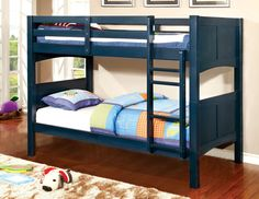 Twin/Twin Bunk Bed Prismo II Collection CM-BK608T-BL