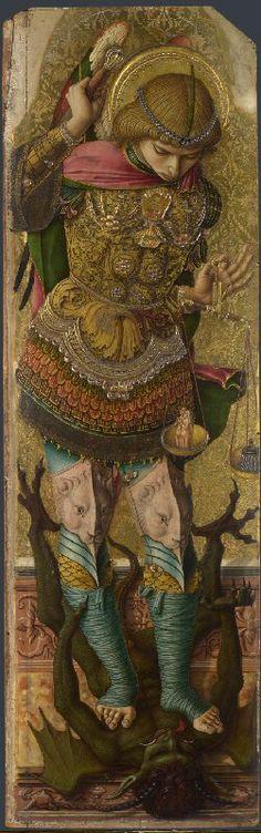 Carlo Crivelli - San Michele, pannello Polittico minore di San Domenico (o Polittico di san Pietro martire) - 1476 - Londra, National Gallery